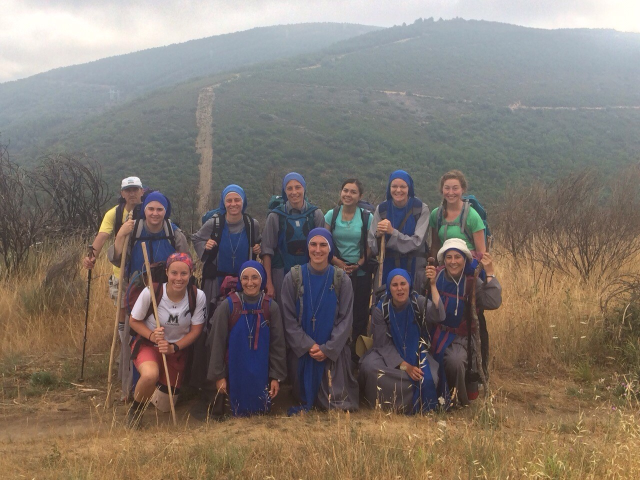 Servants of the lord and of the virgin of matará SSVM pilgrimage to el camino de santiago (IVE missionary sisters).